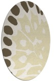 rug #592109 | oval yellow abstract rug