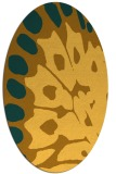 rug #592121 | oval yellow abstract rug