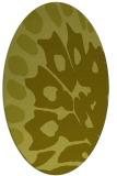 rug #592137 | oval light-green popular rug