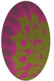 rug #592145 | oval light-green rug