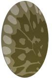 rug #592149 | oval light-green animal rug