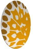 rug #592153 | oval light-orange animal rug