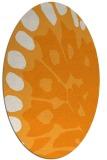 rug #592161 | oval light-orange animal rug