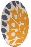 rug #592165 | oval light-orange animal rug