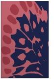 rug #592261    blue-violet animal rug