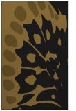 rug #592285    mid-brown abstract rug