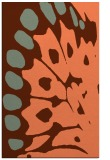 rug #592369 |  red-orange abstract rug