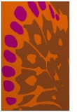 rug #592433 |  red-orange abstract rug