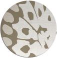 rug #592521 | round white animal rug