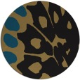 rug #592541 | round black abstract rug