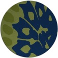 rug #592557 | round green abstract rug