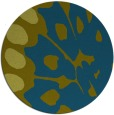 rug #592581 | round green abstract rug