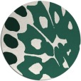 rug #592653 | round green abstract rug