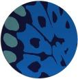 rug #592689   round blue animal rug