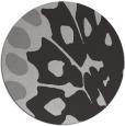 rug #592721 | round orange abstract rug