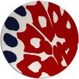 rug #592761 | round red animal rug
