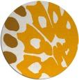 rug #592857 | round light-orange animal rug