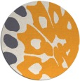 rug #592869 | round light-orange animal rug