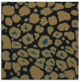 rug #595005 | square mid-brown circles rug