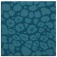 rug #595033 | square blue-green animal rug
