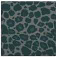 rug #595113 | square blue-green animal rug
