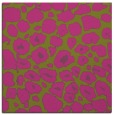 rug #595313 | square light-green animal rug