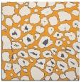 rug #595333 | square light-orange circles rug