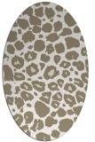 rug #595337 | oval beige circles rug