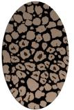 rug #595349   oval beige animal rug