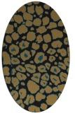rug #595357   oval black animal rug