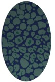 rug #595369 | oval blue animal rug