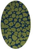 rug #595373   oval green animal rug