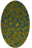 rug #595397 | oval blue-green circles rug