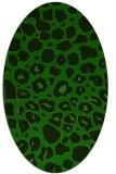 rug #595405   oval green animal rug