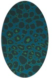 rug #595417 | oval blue animal rug