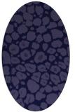rug #595421 | oval blue-violet rug