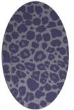 rug #595425 | oval blue-violet animal rug