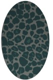 rug #595465   oval green animal rug