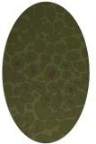 rug #595473 | oval green circles rug