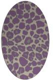rug #595517 | oval purple animal rug