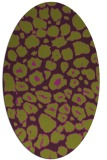 rug #595565 | oval green circles rug