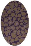 rug #595569 | oval purple circles rug