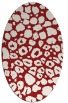 rug #595585   oval red circles rug