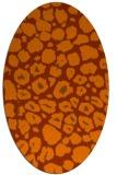 rug #595593 | oval red-orange circles rug