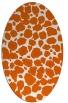 rug #595605   oval red-orange circles rug