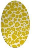 rug #595613 | oval white circles rug
