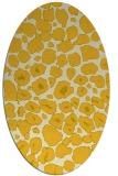 rug #595625 | oval yellow circles rug