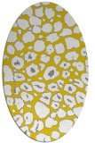 rug #595637 | oval yellow circles rug