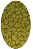 rug #595657 | oval light-green animal rug