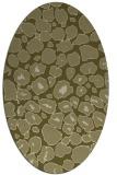 rug #595669 | oval light-green circles rug